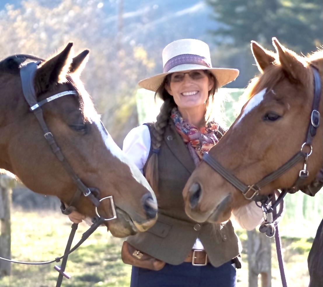 Robin Waugaman with horses